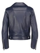 Acne Studios Leather Jacket - Ink blue