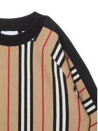 Burberry Black And Beige Cotton Sweatshirt - Check
