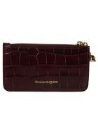 Alexander McQueen Zip Card Holder - Velvet red
