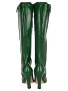 Miu Miu Lace-up Knee-high Boots - MANGO GREEN