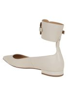 Francesco Russo Calf Leather Ballerina - Ivory