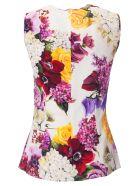 Dolce & Gabbana Floral Print Blouse - Naturale