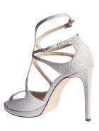 Jimmy Choo Lance 100 Sandals - Silver