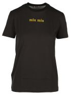 Miu Miu Cat Print T-shirt - BLACK
