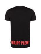 Philipp Plein Printed Cotton T-shirt - black