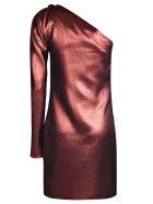 Victoria Beckham One Shoulder Dress - Copper