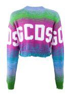 GCDS Multi-coloured Cotton Jumper - Bicolore