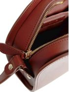 A.P.C. Half-moon Leather Mini Bag - Noisette