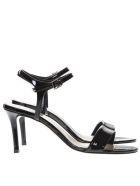 Marc Ellis Black Patent Leather Sandals - Black