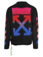 Off-White Off White Diagonal Brushed Sweater - BLACK