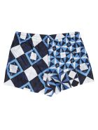 Dolce & Gabbana Blue And White Swimming Shorts - Blue