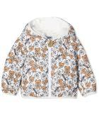 Moschino Teddy Print Padded Jacket - Bianco