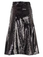 Simone Rocha Gonna Paillettes Plisse - Black