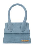 Jacquemus Le Chiquito Moyen Suede Handbag - Blue