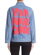 Jeremy Scott Oversize Fit Jacket - Blue