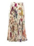 Gucci Floral Print Pleated Skirt - Ivory