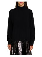 Circus Hotel Cut Out Back Sweater -  Nero
