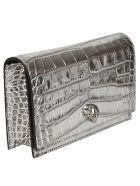 Alexander McQueen Skull Motif Shoulder Bag - Silver