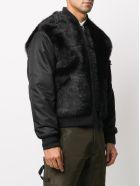 Mr & Mrs Italy Nick Wooster Unisex Black Nylon Bomber With Shearling - BLACK/BLACK / BLACK