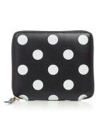 Comme des Garçons Wallet Wallet Medium Dots Printed Leather Line - Black