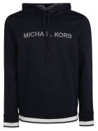 Michael Kors Embroidered Logo Hoodie - blue