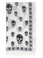 Alexander McQueen Skull Print Scarf - Ivory