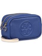 Tory Burch Perry Bombé Leather Camera Bag - blue