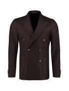 Tagliatore Wool Blend Double-breasted Jacket - brown