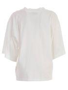 Hache Half Sleeve Top - White