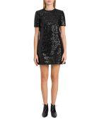 Saint Laurent Sequined Short Dress - Nero