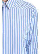 Jil Sander Moia  Shirt In Cyan Cotton - cyan