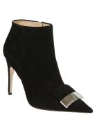 Sergio Rossi Leather Ankle Boots - Black