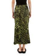 Ganni Zebra Print Skirt - LIME BLACK (Green)