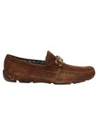 Salvatore Ferragamo Logo Embellished Loafers - Brown