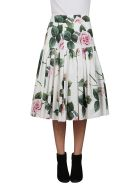 Dolce & Gabbana Floral Pleated Skirt - Multicolor