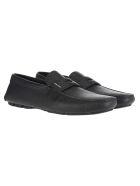 Prada Driver Leather Loafers - BLACK