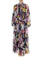 Dolce & Gabbana Multicolor Floral Print Silk Dress - Multicolor