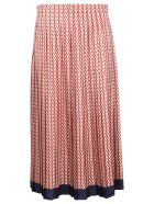 Valentino Optical V Skirt - Amy Almond Brick