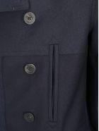 Golden Goose Hideo Coat - Navy wool/navy wool vintage