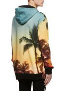 Balmain Palm Tree Print Hoodie - Multicolor