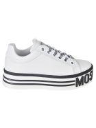Moschino Logo Sole Platform Sneakers - White
