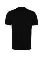 Alexander McQueen Cotton Piquet Polo Shirt With Patch - black