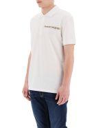 Alexander McQueen Logo Tape Polo Shirt - White