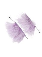 The Attico Feather Anklets - LILAC