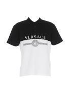 Versace Polo With Logo - White