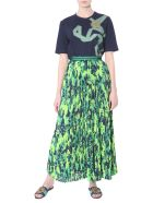 Mr & Mrs Italy Long Pleated Skirt - VERDE
