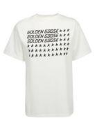 Golden Goose T-shirt - White/flag
