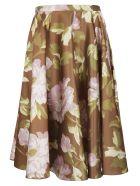 Rochas Floral Skirt - Fantasy green/pink