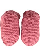 Little Bear Peony Pink Baby Bootee For Babygirl - Fuchsia