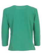 Nuur Viscose Sweater 3/4s Boat Neck - Bottle